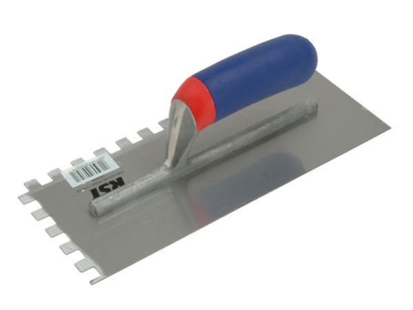 Notched Trowel Square 10mm² Soft Touch Handle 11 x 4.1/2in