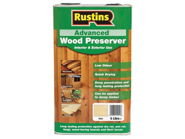 Advanced Wood Preserver Clear 5 litre