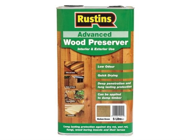 Quick Dry Advanced Wood Protector Mid Brown 5 litre