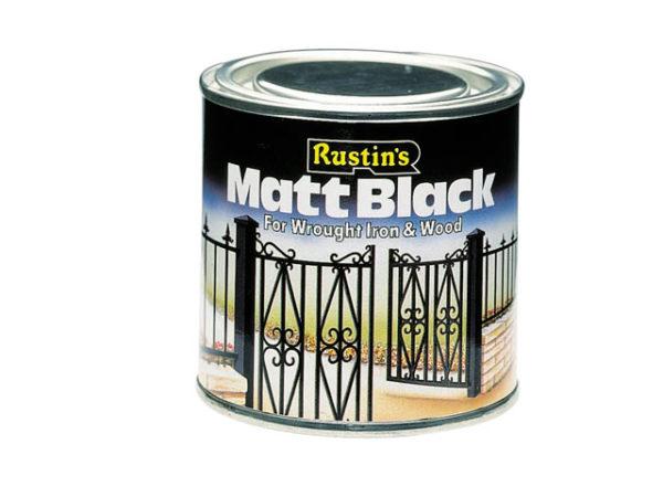 Matt Black Paint Quick Drying 500ml