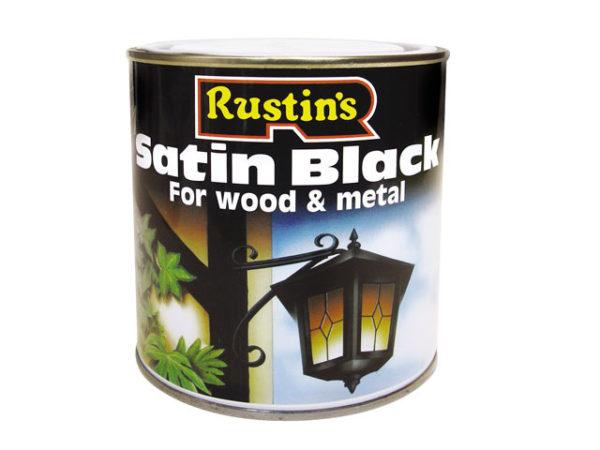 Satin Black Paint Quick Drying 500ml