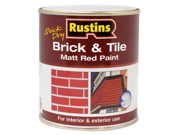 Quick Dry Brick & Tile Paint Matt Red 250ml