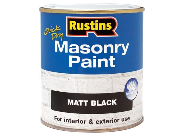 Quick Dry Masonry Paint Black 250ml