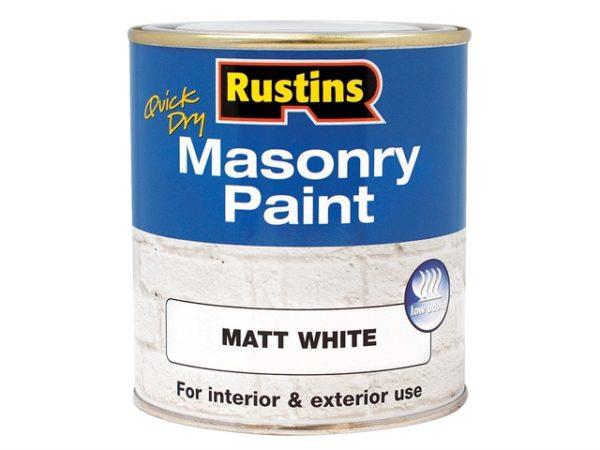 Quick Dry Masonry Paint White 250ml