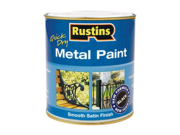 Quick Dry Metal Paint Smooth Satin Black 500ml