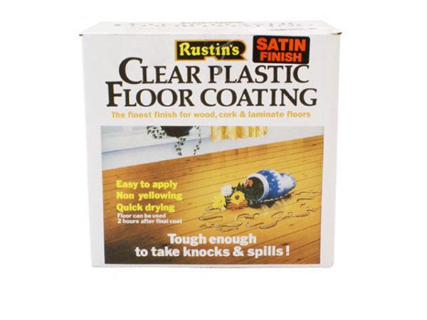 Clear Plastic Floor Coating Kit Satin 4 litre