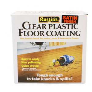 Clear Plastic Floor Coating Kit Gloss 1 litre