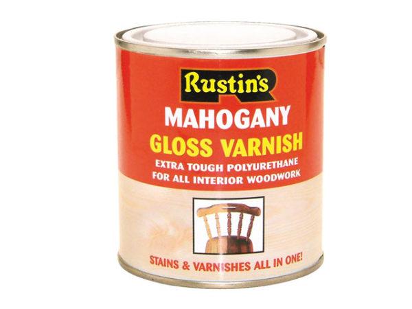 Polyurethane Varnish & Stain Gloss Mahogany 500ml