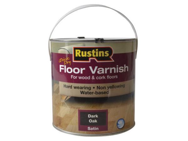 Quick Dry Coloured Floor Varnish Dark Oak 2.5 litre