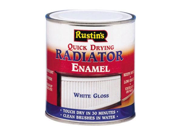 Quick Dry Radiator Enamel Paint Gloss White 500ml