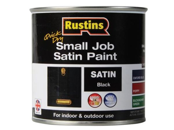 Quick Dry Small Job Satin Paint Black 250ml