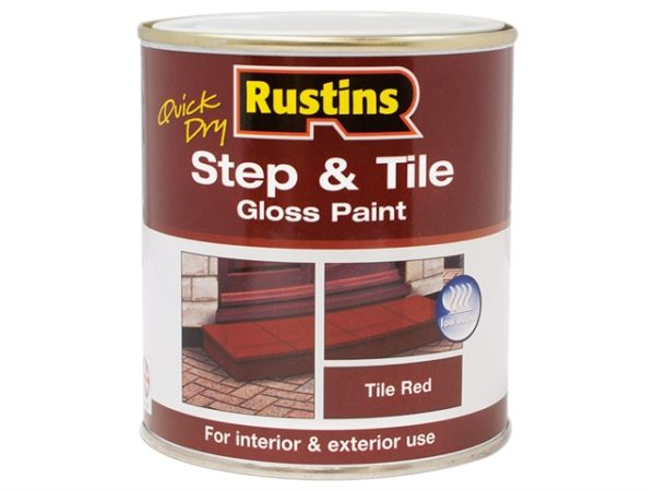 Quick Dry Step & Tile Paint Gloss Red 500ml