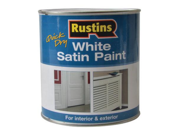 Quick Dry White Satin Paint 1 Litre