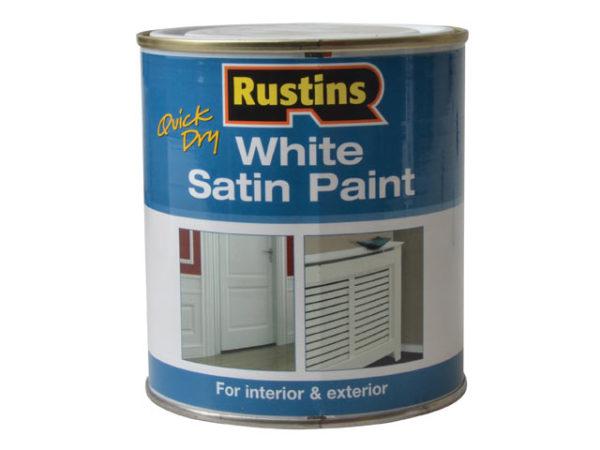 Quick Dry White Satin Paint 500ml