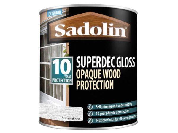 Superdec Opaque Wood Protection Super White Gloss 1 litre