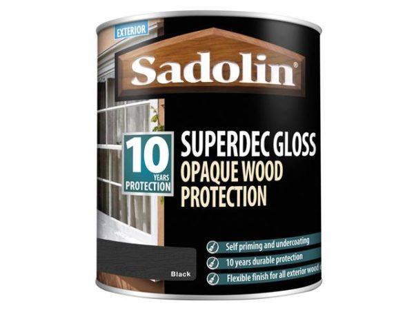 Superdec Opaque Wood Protection Black Gloss 1 litre