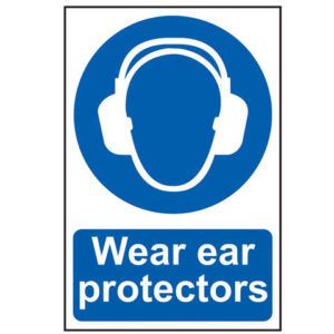 Wear Ear Protectors - PVC 200 x 300mm