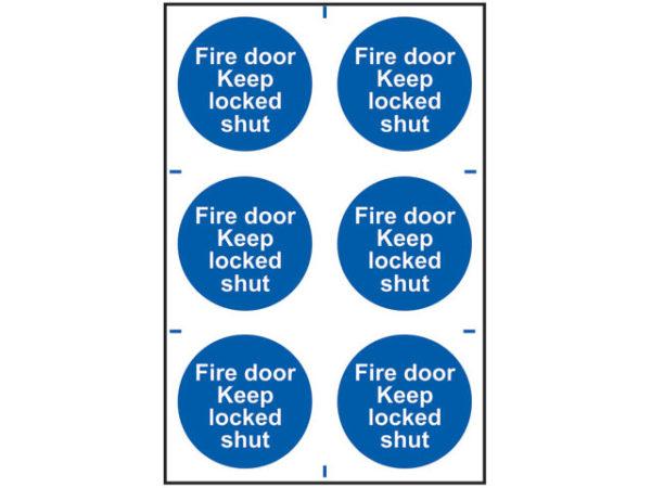 Fire Door Keep Locked Shut - PVC 200 x 300mm