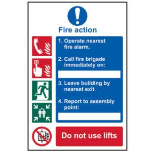 Fire Action Procedure - PVC 200 x 300mm
