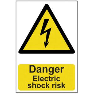 Danger Electric Shock Risk - PVC 200 x 300mm