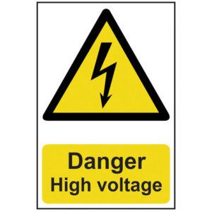 Danger High Voltage - PVC 200 x 300mm