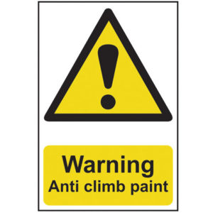Warning Anti Climb Paint - PVC 200 x 300mm