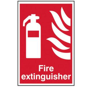 Fire Extinguisher - PVC 200 x 300mm