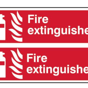 Fire Extinguisher - PVC 300 x 100mm