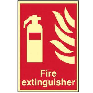 Fire Extinguisher Photoluminescent - 200 x 300mm