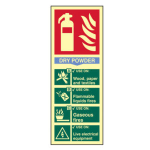 Fire Extinguisher Composite - Dry Powder - Photoluminescent 75 x 200mm