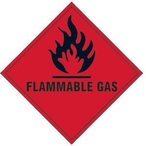 Flammable Gas SAV - 100 x 100mm