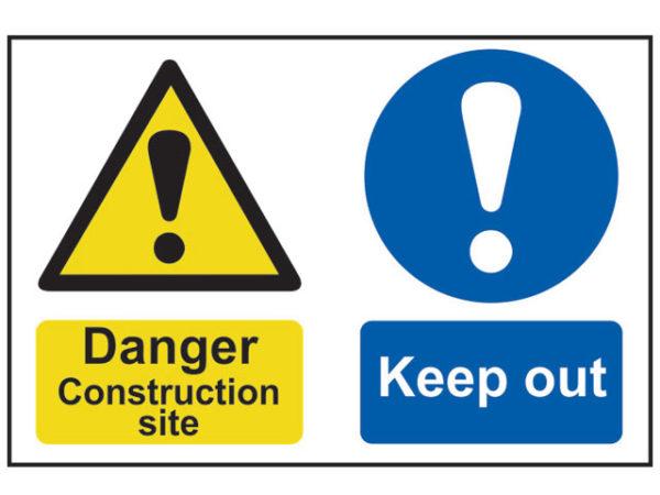 Danger Construction Site Keep Out - PVC 600 x 400mm