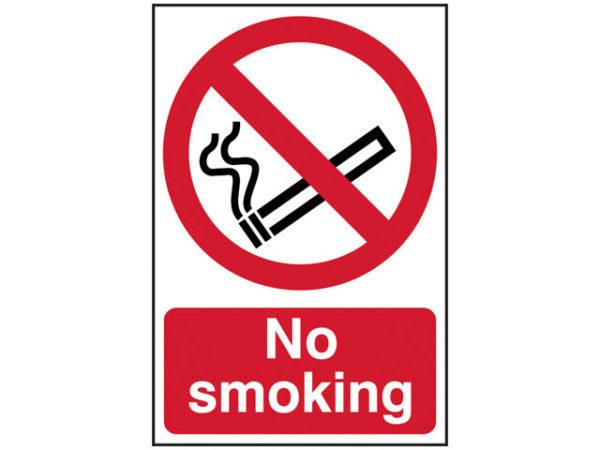 No Smoking - PVC 400 x 600mm