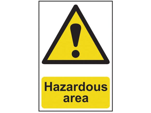 Hazardous Area - PVC 400 x 600mm