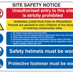 Composite Site Safety Notice - FMX 800 x 600mm