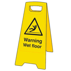Heavy-Duty 'A' Board: Warning Wet Floor