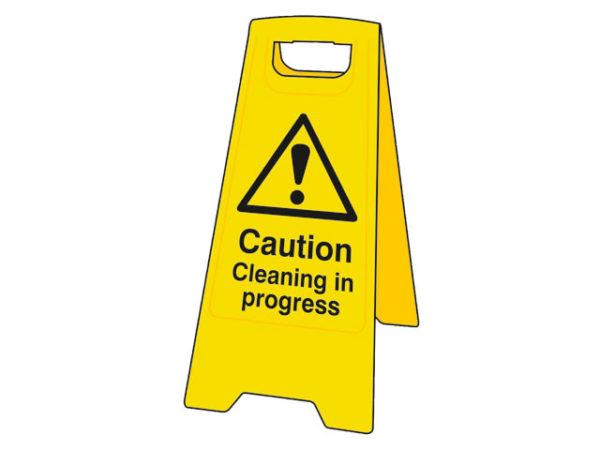 Heavy-Duty 'A' Board: Caution Cleaning In Progress