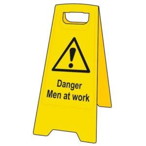 Heavy-Duty 'A' Board: Danger Men At Work