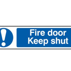 Fire Door Keep Shut - PVC 200 x 50mm