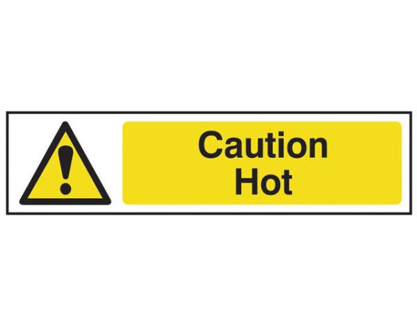 Caution Hot - PVC 200 x 50mm