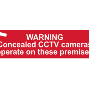 Warning Concealed CCTV Cameras Operate On These Premises - PVC 200 x 50mm