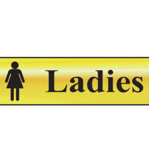 Ladies - Polished Brass Effect 200 x 50mm