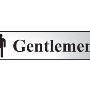 Gentlemen - Polished Chrome Effect 200 x 50mm