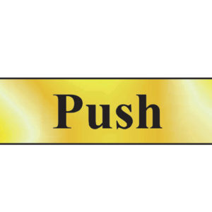 Push - Polished Brass Effect 200 x 50mm