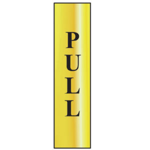 Pull Vertical - Polished Brass Effect 50 x 200mm