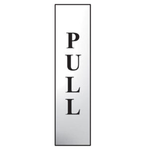 Pull Vertical - Polished Chrome Effect 50 x 200mm