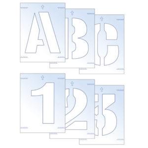 Letter & Number Stencil Kit 25mm