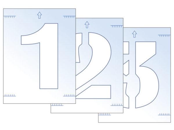 Number Stencil Kit 300mm