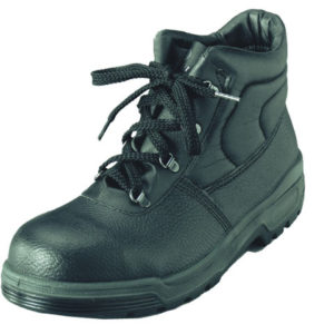 4 D-Ring Chukka Black Safety Boots UK 11 Euro 46