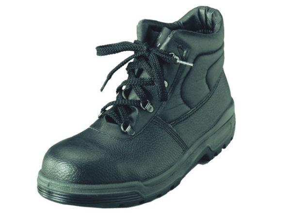 4 D-Ring Chukka Black Safety Boots UK 7 Euro 41